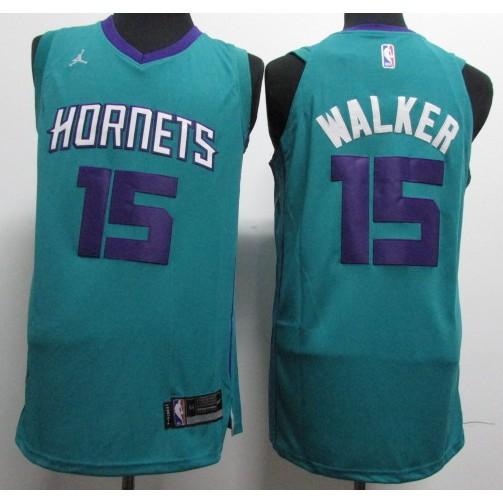 dfe287cd9 Charlotte Hornets  15 Kemba Walker Classic Fashion Jersey