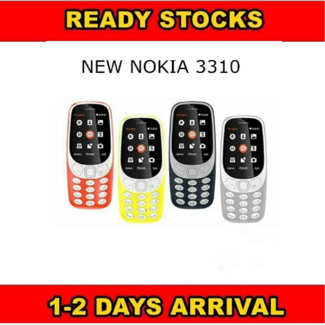 [IMPORT] 2017 New Nokia 3310 With Dual Sim/Camera/MicroSd Card Slot