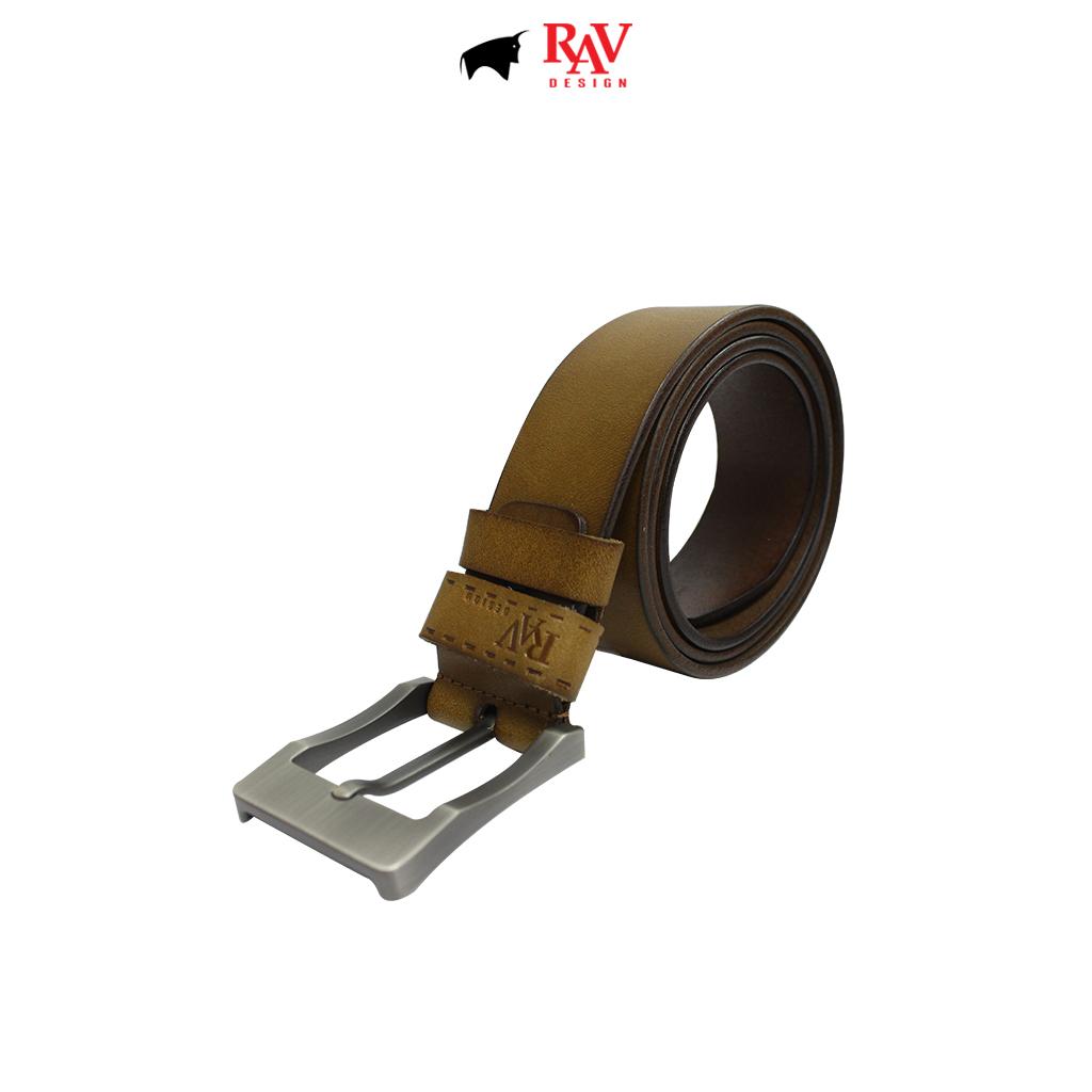 RAV DESIGN Men's 100% Genuine Cow Leather 40MM Pin Buckle Belt Brown |RVB592G1