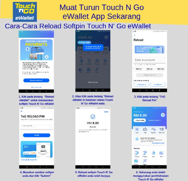 Free Touch N Go Ewallet Rm8 Soft Pin Reload Shopee Malaysia