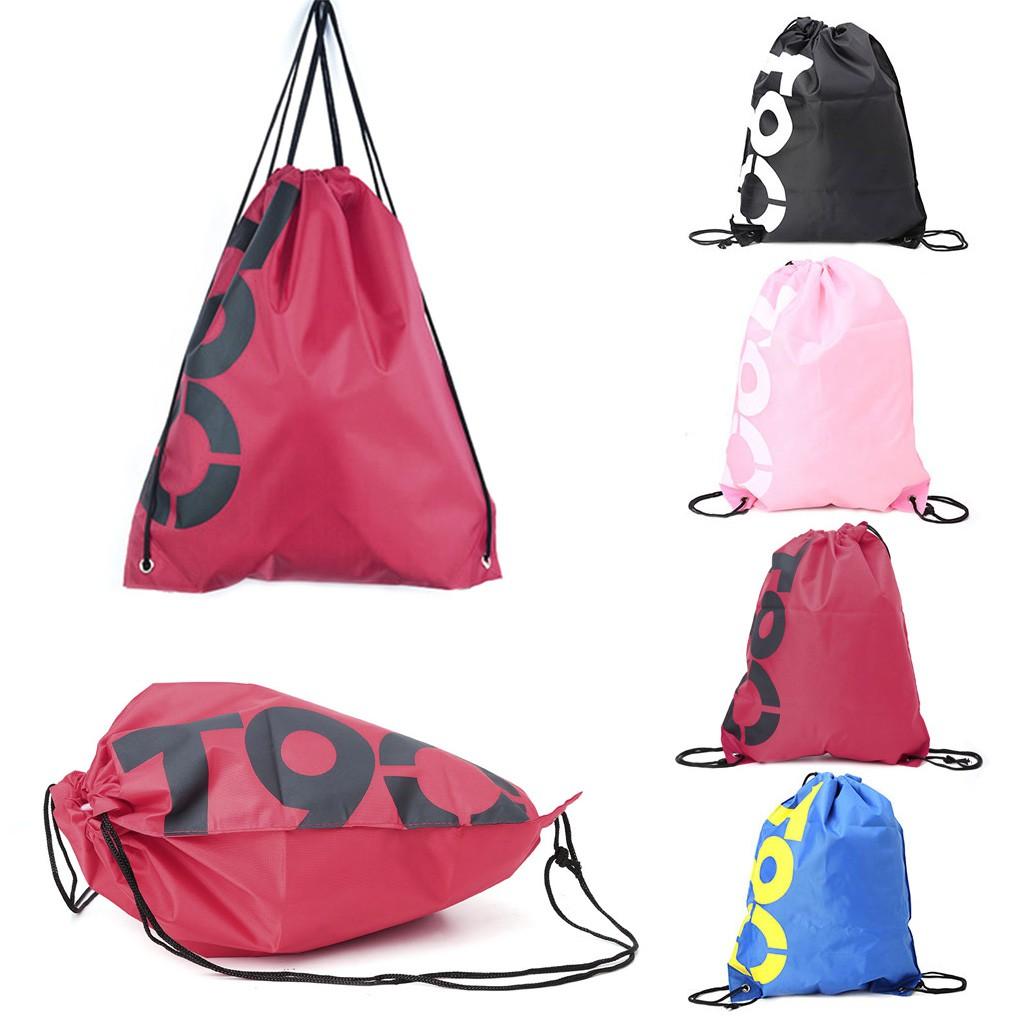 BST✿Backpack Drawstring Bags Waterproof Travel Beach Shoes Pack