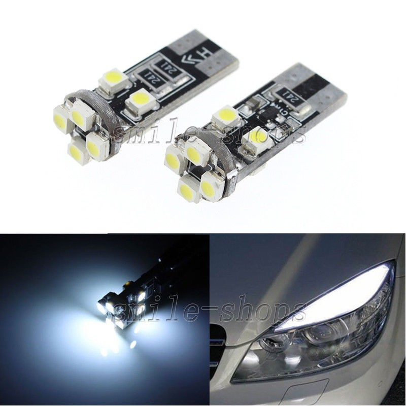 8 LED Canbus Error Free 501 Sidelight Parking Bulbs Xenon White For Mazda 6