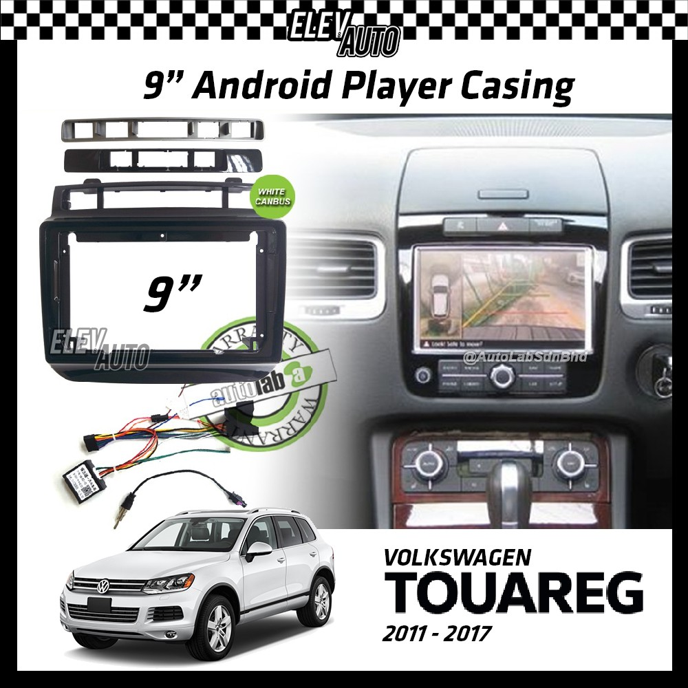 """Volkswagen Touareg 2011-2017 Android Player Casing 9"""" with Canbus"""