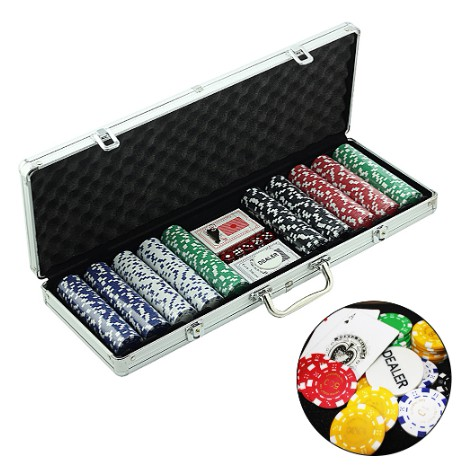 500 Chips Professional Poker Chip Set With Aluminium Case Ready Stock 扑克筹码 Poker Card Game Shopee Malaysia
