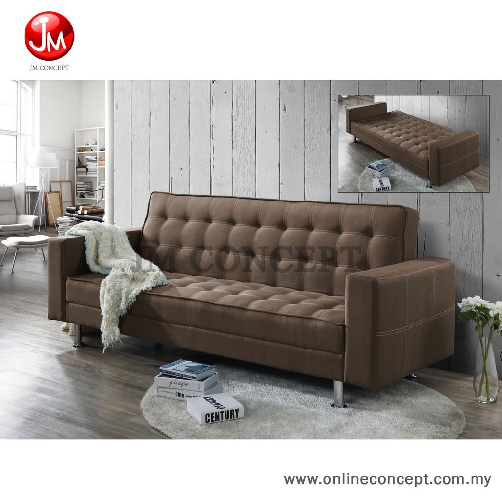 JM Concept Classic Sofa Bed (Brown)