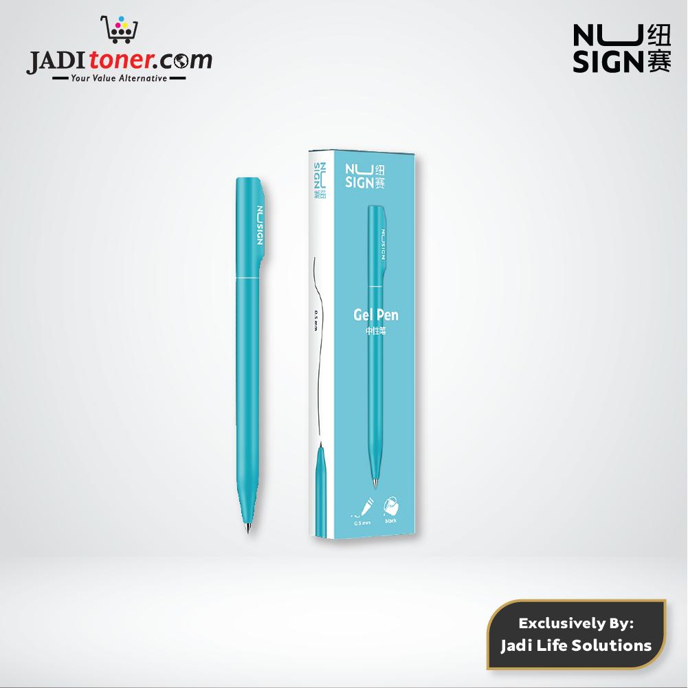 Jadi Nusign Lagoon Blue Rotary Gel Pen 0.5mm NS552