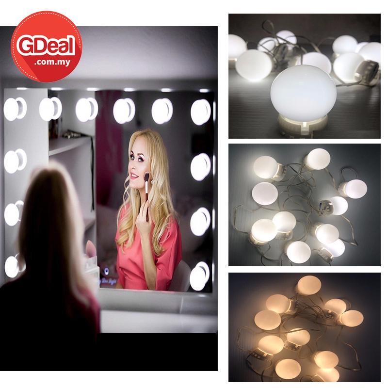 GDeal Three Colours Lighting Makeup Mirror Bulb Dressing Lamp For Makeup Vanity Mirror Light