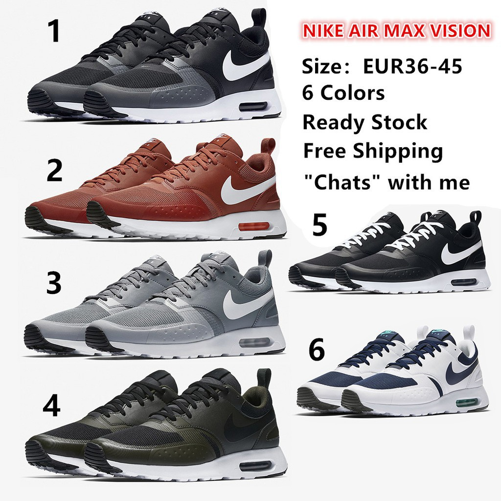 892340498d Eg*6 colors NIKE AIR MAX VISION men running shoes women jogging sneaker  ready stock
