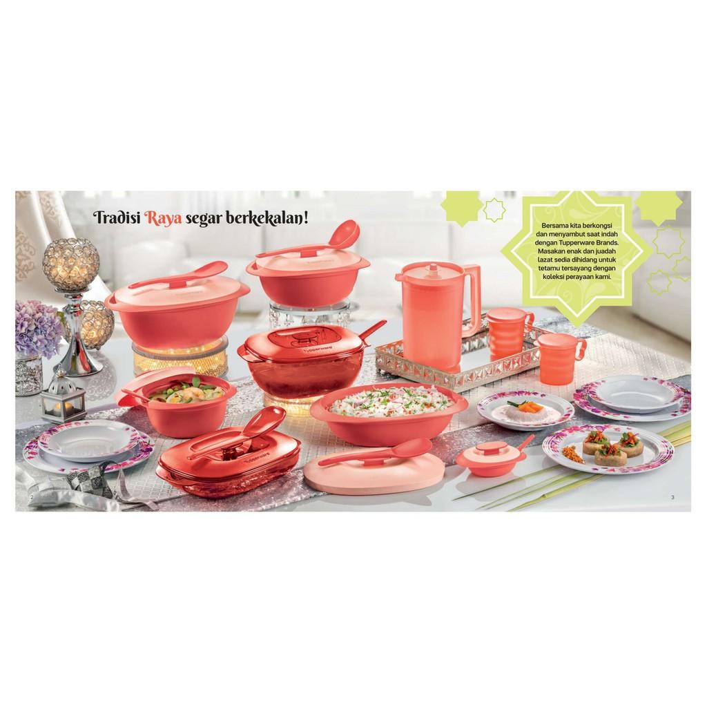 Tupperware Tableware Drinkware Coral Blooms Serving Set Plates Bowl Pitcher Mugs