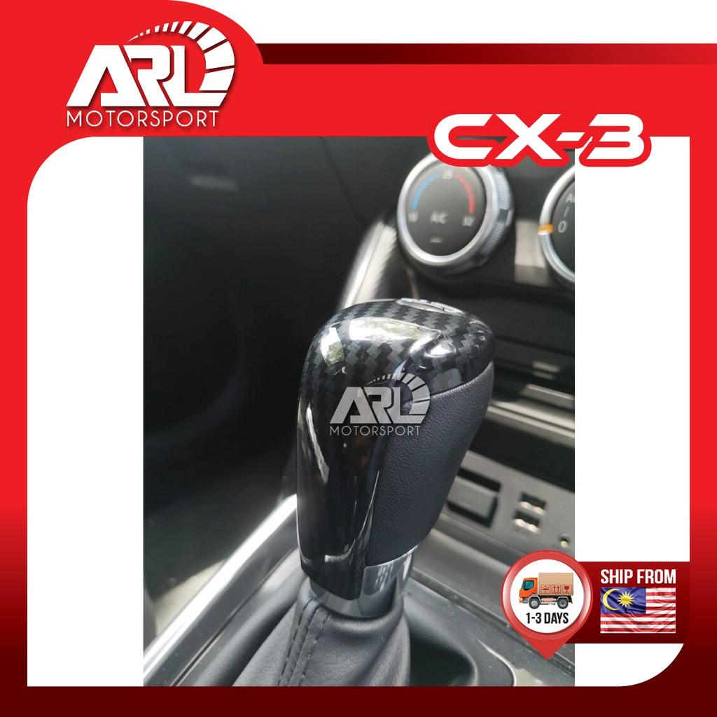 Mazda CX3 CX-3 Gear Knob Lining Cover Carbon Fiber Design Car Auto Acccessories ARL Motorsport