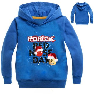 Kids Boys Girls ROBLOX RED NOSE DAY Hoodies Long Sleeve | Shopee