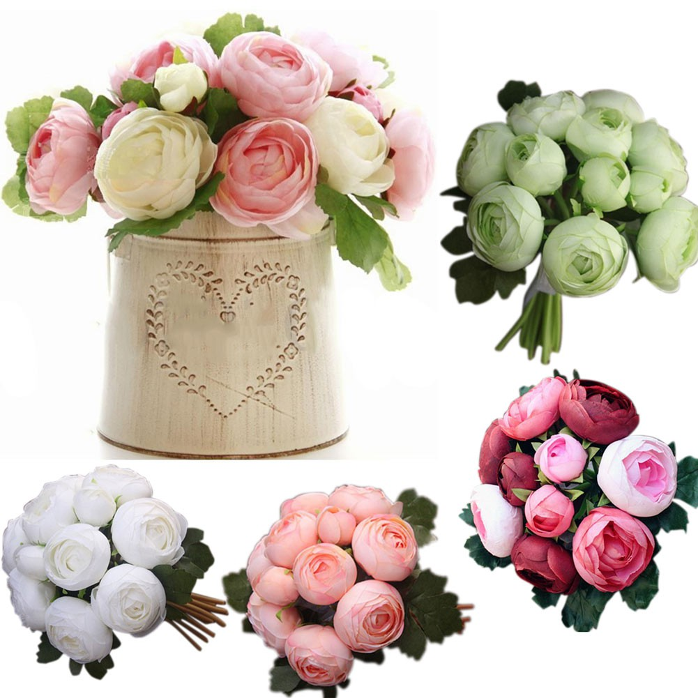 Ieasy5 Heads Hydrangea Artificial Flowers 1 Bouquet Diy Fake