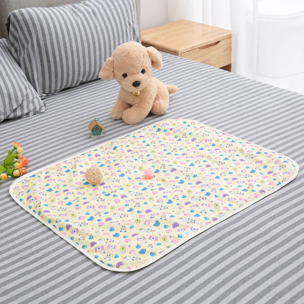 Ypingliang 60*80cm Baby Waterproof Urine Pad Bedding Nappies Diaper Changing Mat Kids Cloth Diapers Reusable Breathable
