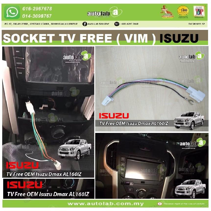 Socket TV Free (Bypass VIM) ISUZU DMAX