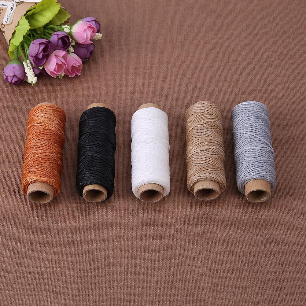 50m//Roll 150D Sew Wax Line DIY Leather Crafts Hand Stitching Sewing Fiber Thread