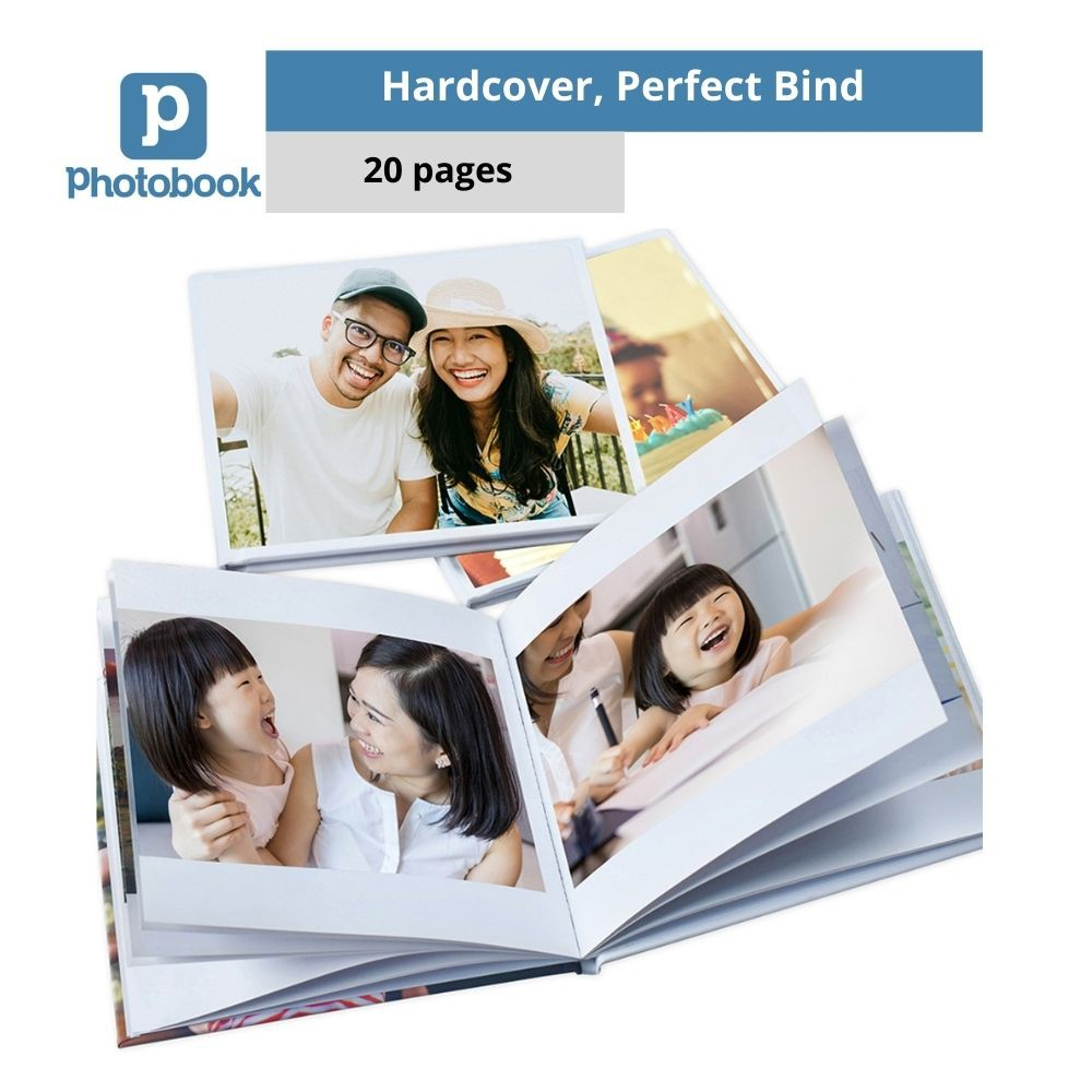"Photobook Malaysia Personalised Hardcover Simplebook (6"" x 6"" x 20 Pages)"