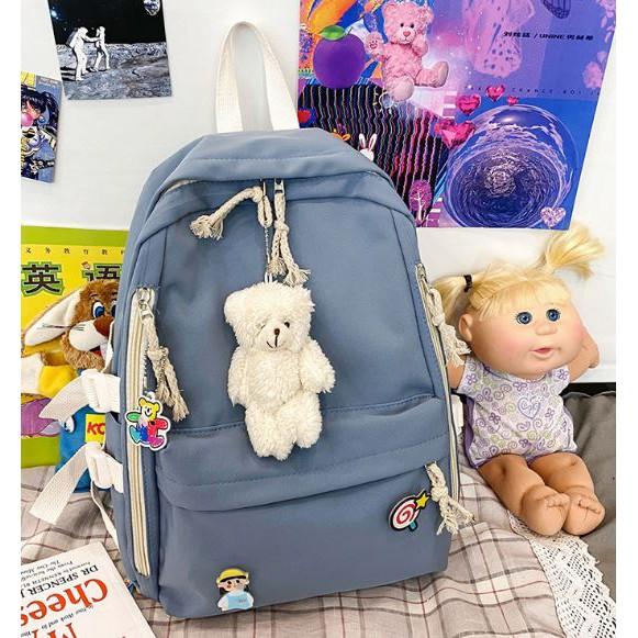 Girl Backpack Ladies Men Casual Bag Bear  简约背包熊 BP0020