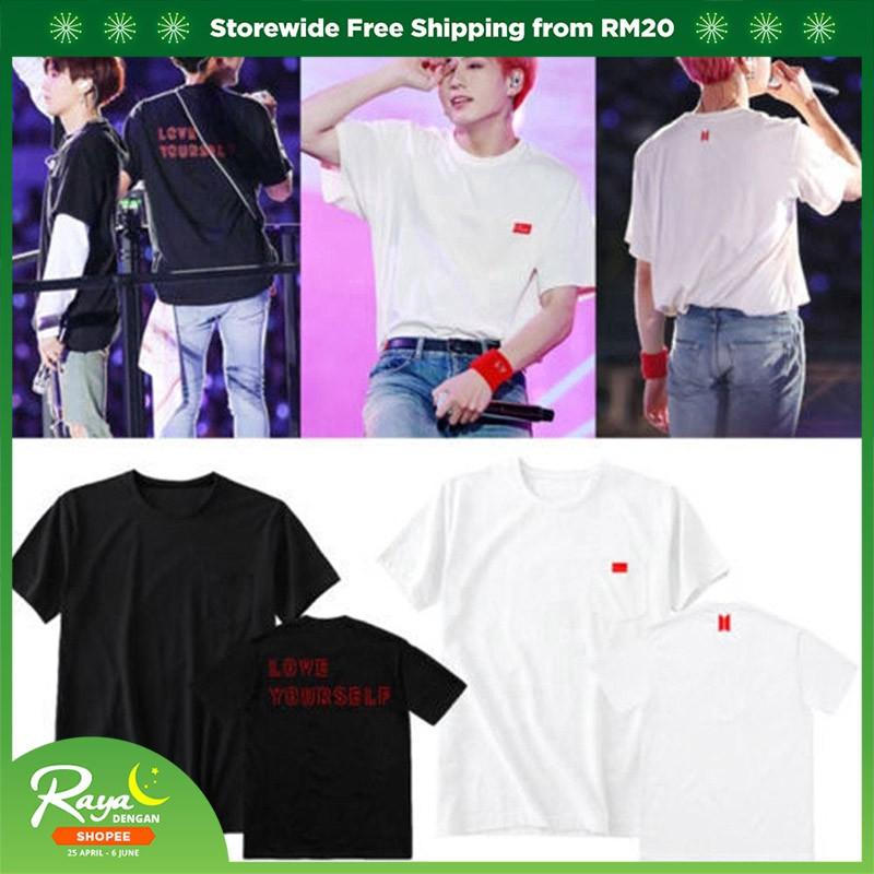 bdd1a5284f4d9 Kpop BTS LOVE YOURSELF World Tour T-Shirt Unisex Tee Shirt
