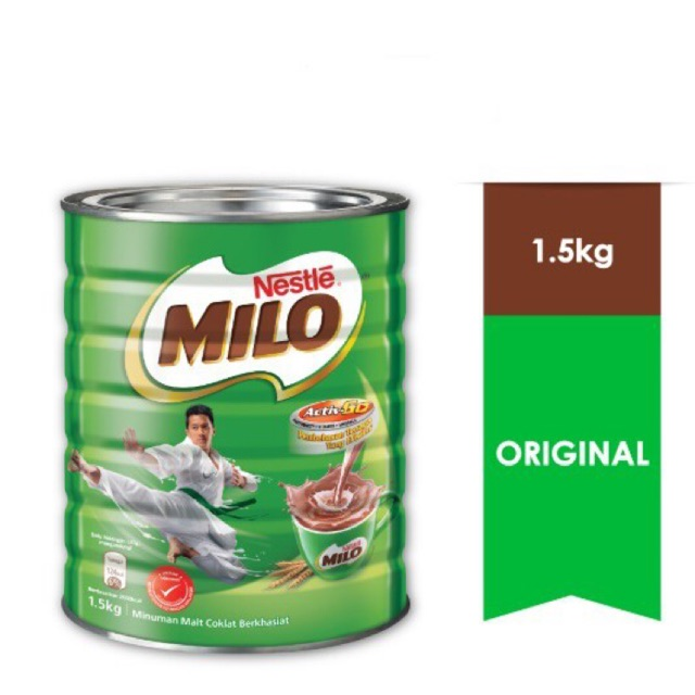 NESTLE MILO ACTIV-GO CHOCOLATE MALT POWDER Tin 1.5kg