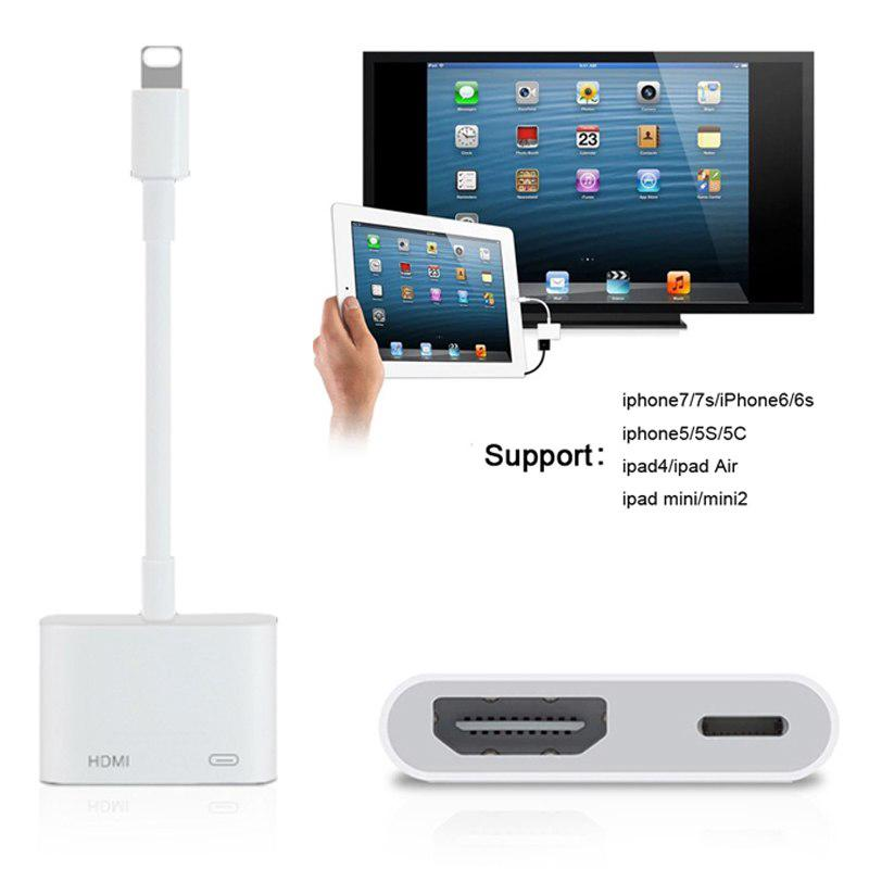 New Lightning To Digital Av Tv Hdmi Cable Adapter For Iphone X 8 7 6s 6 Ipad Pro