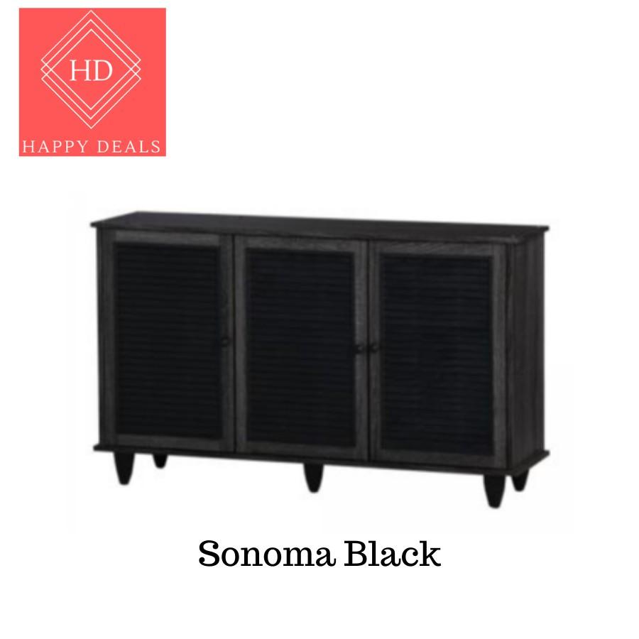 DIY 3 Doors Premium Wooden Shoe Cabinet/ Shoe Rack/ Kabinet kasut berpintu / Almari Kasut 自我安装 鞋柜 鞋橱 (SU 3)