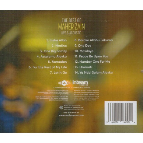 Maher Zain - The Best Of Maher Zain Live & Acoustic (CD