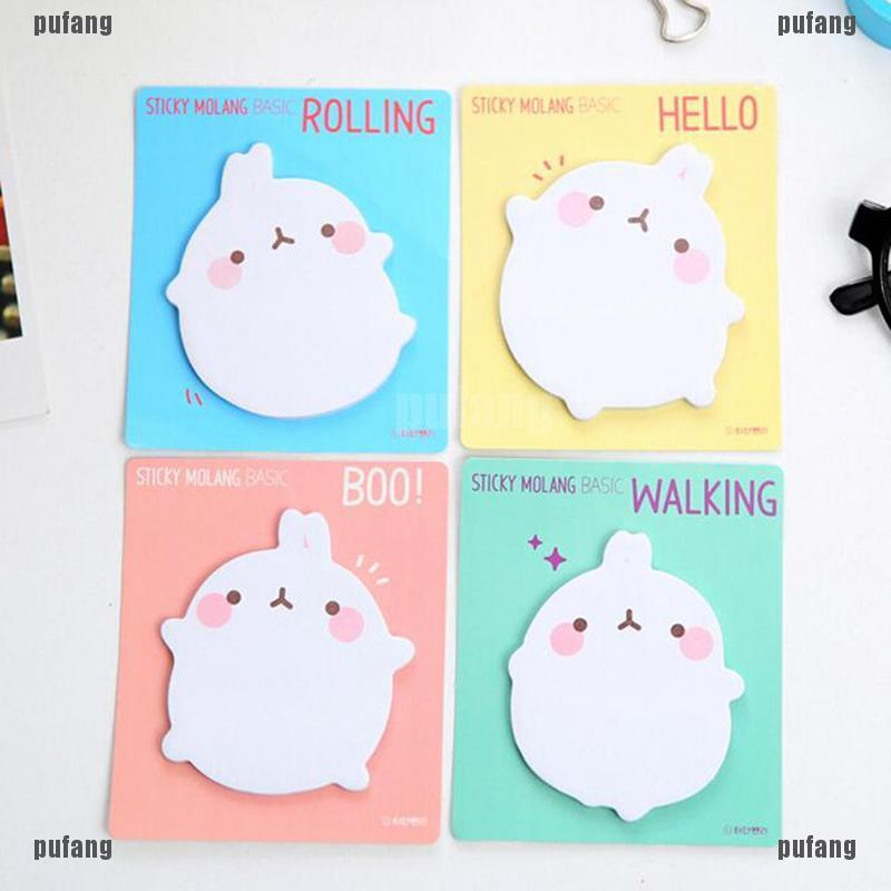 2X Cute Rabbit Sticky Notes Sticker Bookmarker Memo Pad Home Office Class A!