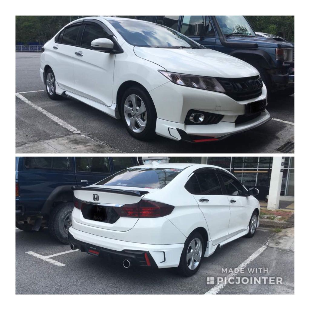 Honda City 2014 2019 Drive 68 Body Kits With 2k Color Paint