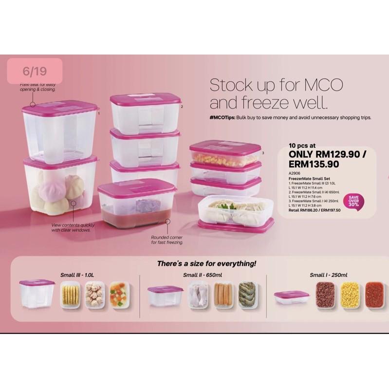 {Ready Stocks} Tupperware FreezerMate Small Set (10pcs)