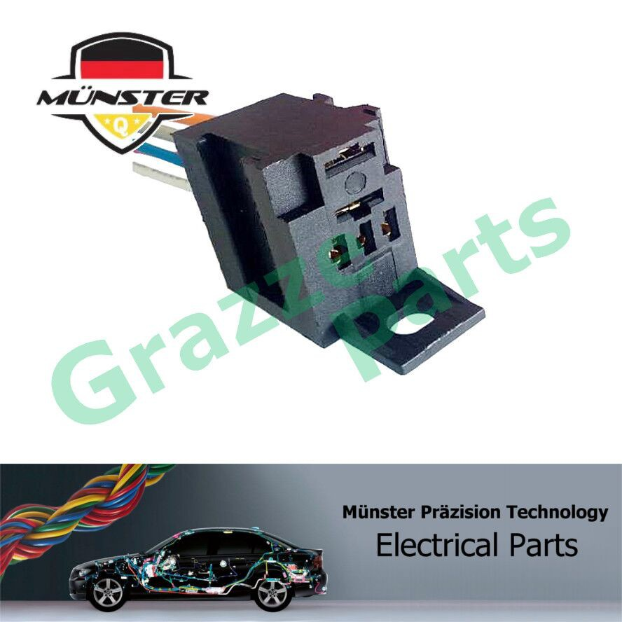 Münster 5-Pin Socket Lamp Relay With Bracket MAG001 Universal Denso Type