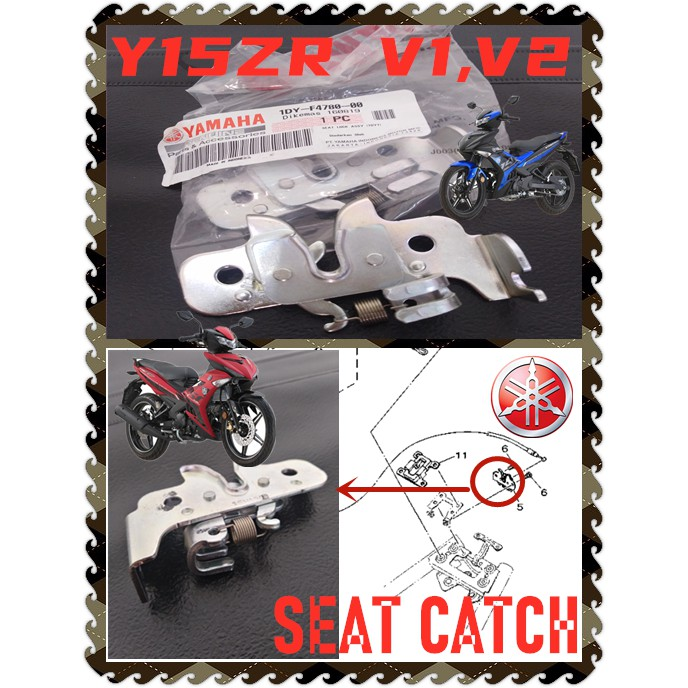 100% ORIGINAL HONG LEONG YAMAHA Y15ZR EXCITER MOVISTAR DOXOU 150 SEAT LOCK CABLE SEAT CATCH BRACKET WITH SPRING STANDARD