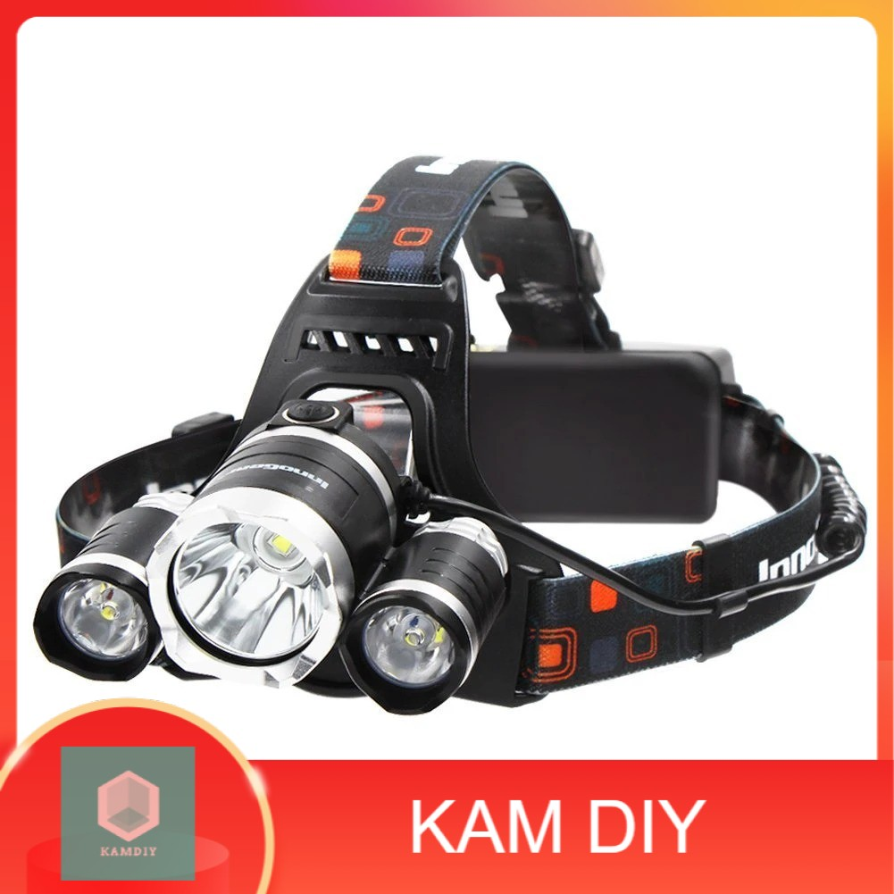 4 Mode Rechargeable T6 LED Headlamp Headlight Waterproof Torch Light Flashlight