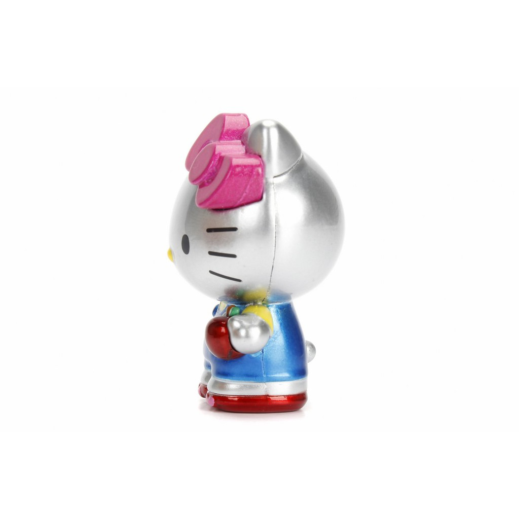 SANRIO HELLO KITTY 2.5 INCH METAL DIE CAST COLLECTOR FIGURE (SILVER) MODEL COLLECTION 84400