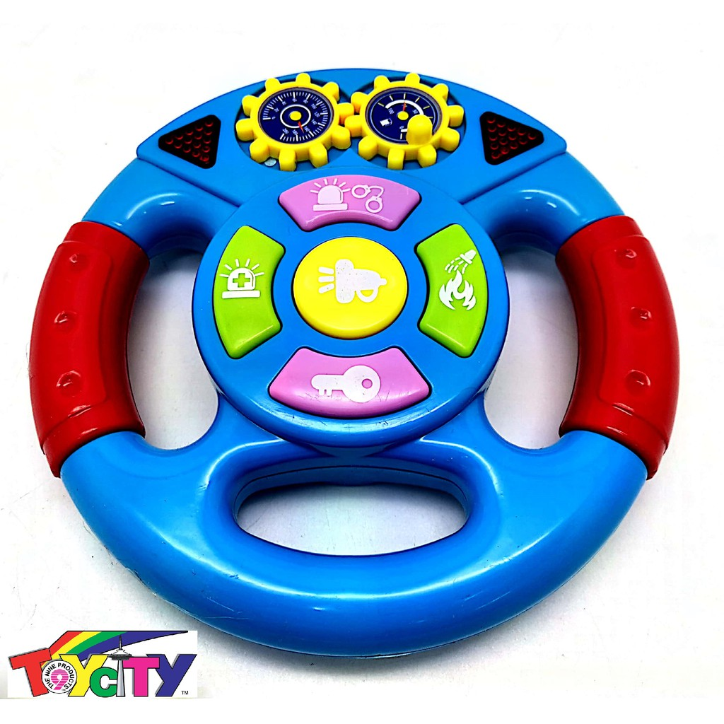EDUCATIONAL MUSICAL STEERING WHEEL SOUND AND LIGHT FOR BABY , TODDLER AND KIDS ( BATTERY OPERATED STEERING TOYS )