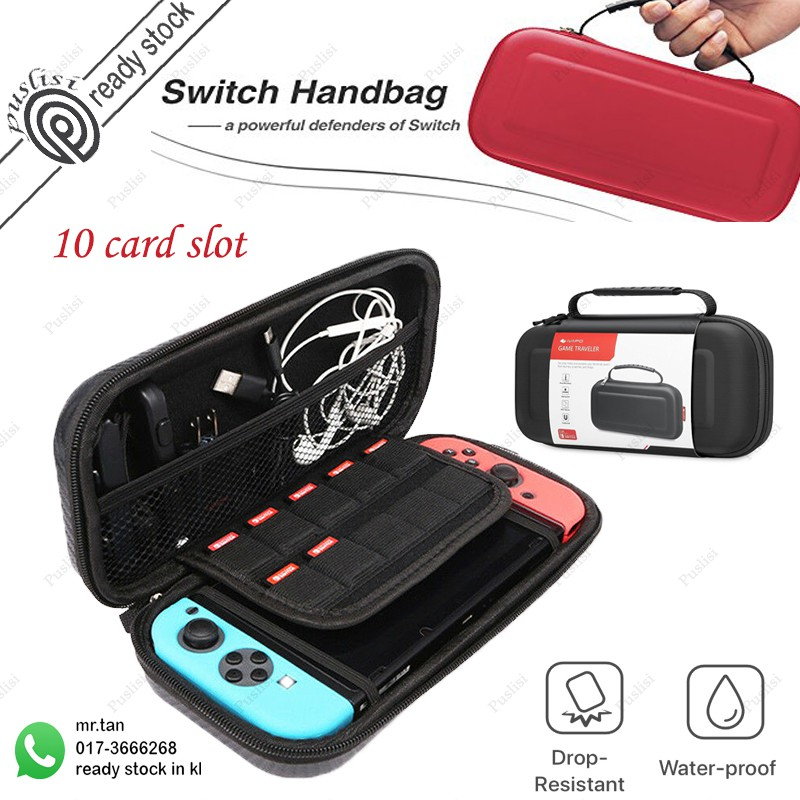 Travel Carrying Case Protective Portable Switch Console Bag 10 card slot  for Nintendo Switch