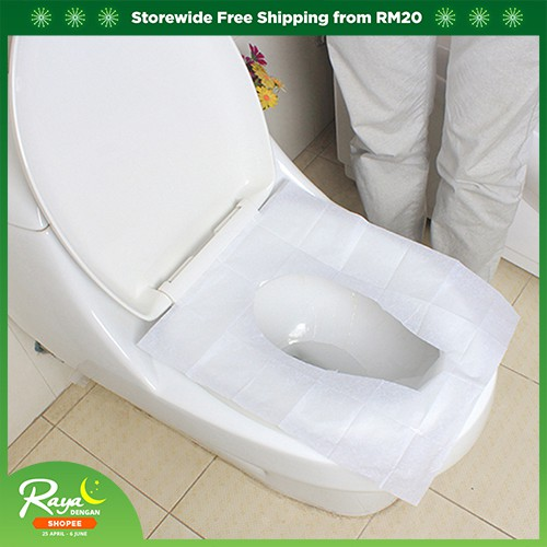 LiveCity 10 Sheets Disposable Toilet Seat Cover Mat Travel Portable Toilet