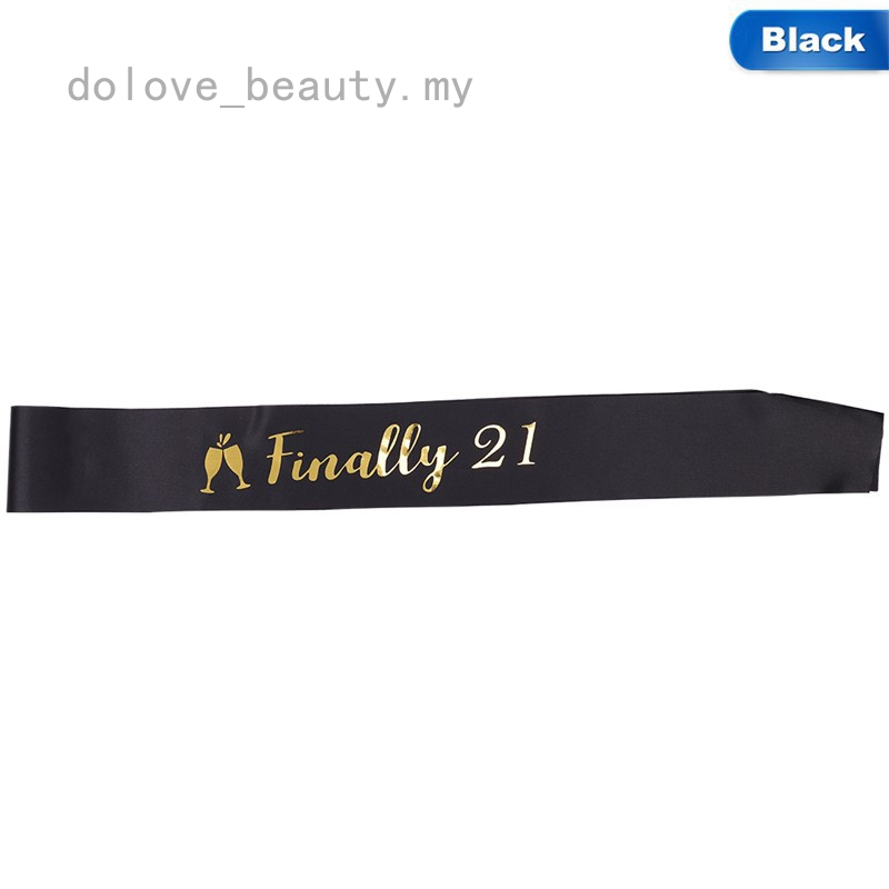 21ST BIRTHDAY FINALLY 21 SATIN SASH FOR PARTY