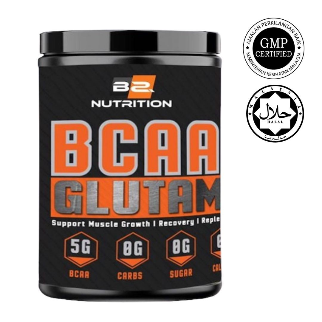 BSFN BCAA 300gm Muscle Growth BCAA+Glutamine Recovery Halal Certified KKM Approved 60 Scoops Servings Zero (READY STOCK)
