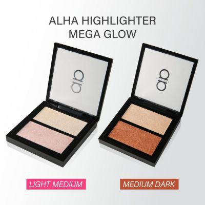 ALHA ALFA DUO MEGA GLOW + HIGHLIGHTING POWDER | Shopee Malaysia