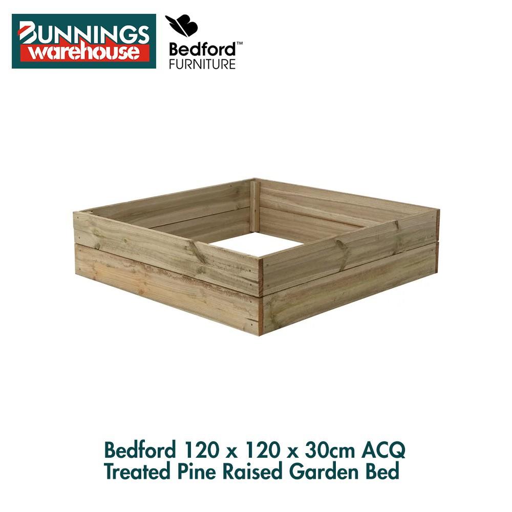 Bunnings Bedford #3320914 120 x 120 x 30cm ACQ Treated Pine Raised Garden Bed