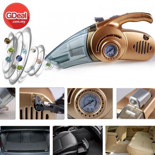4-In-1 Car Vacuum Air Pressure Gauge Tyre Air Pump Handheld Car Vacuum Sweeper