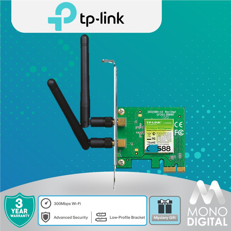TP-LINK TL-WN881ND 300Mbps Wireless N PCI Express Adapter WiFi PCI-E
