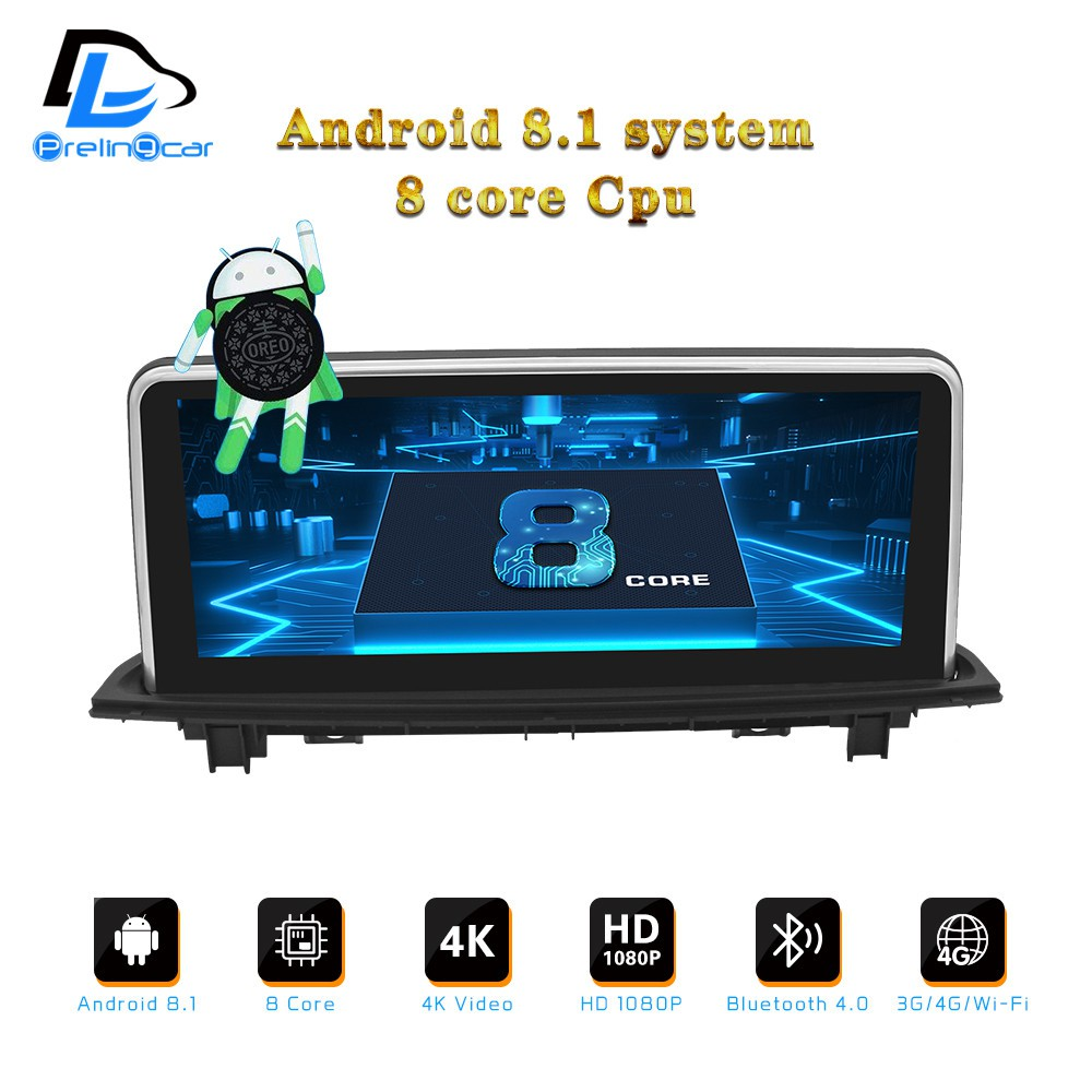 android 8 1 8 core dvd player for For BMW X1 Series F48 E84 CIC EVO NBT  system10 25 auto radio gps navigation multimedia