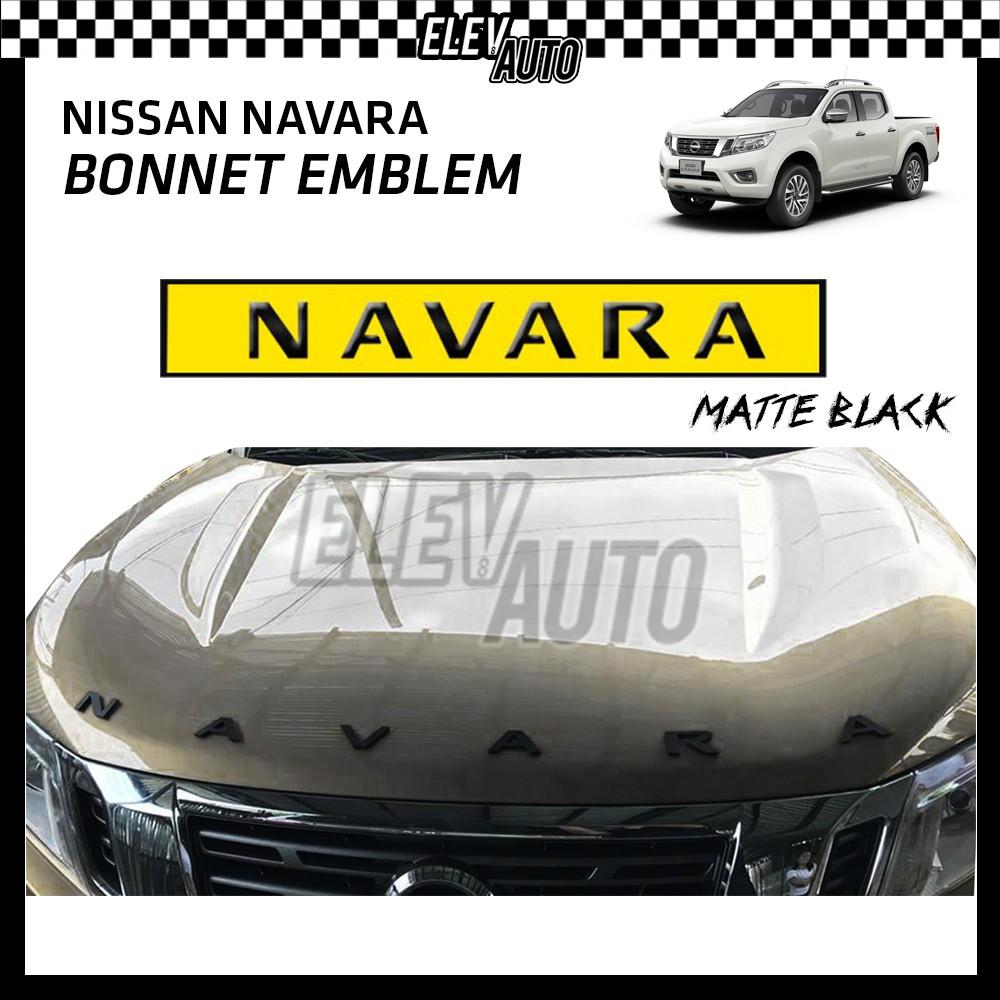 Nissan Navara Matte Black Logo Bonnet Emblem 3D