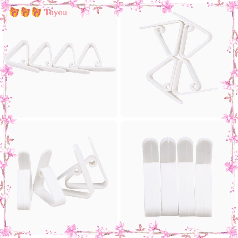 4x Plastic Table Cover Cloth Desk Skirt Clip Wedding Party Picnic Clamp Holder A