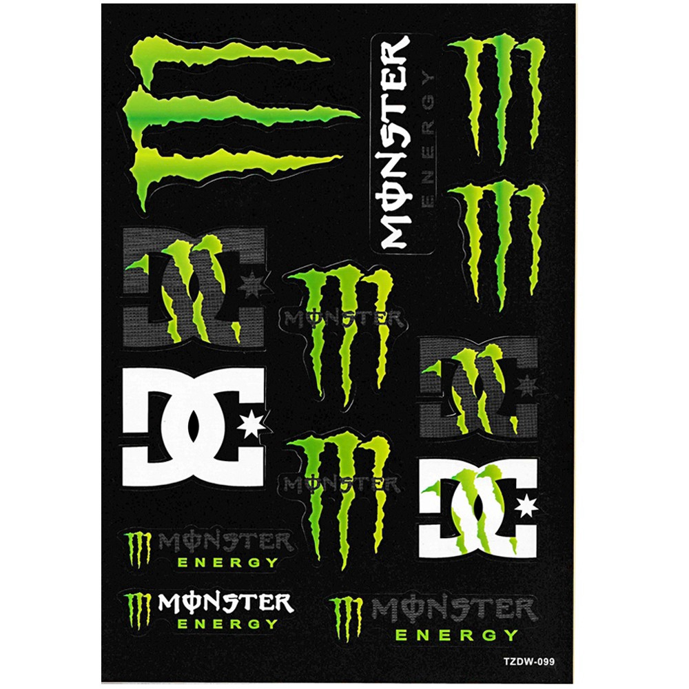 10 set monster energy motor sticker car decal shopee malaysia