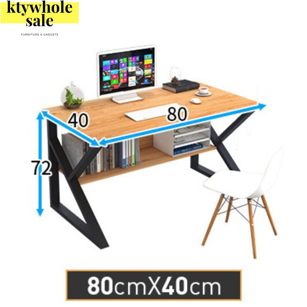KTY office table study table meja study meja komputer meja belajar meja belajar budak 140CM/80CM (READY STOCK MALAYSIA)