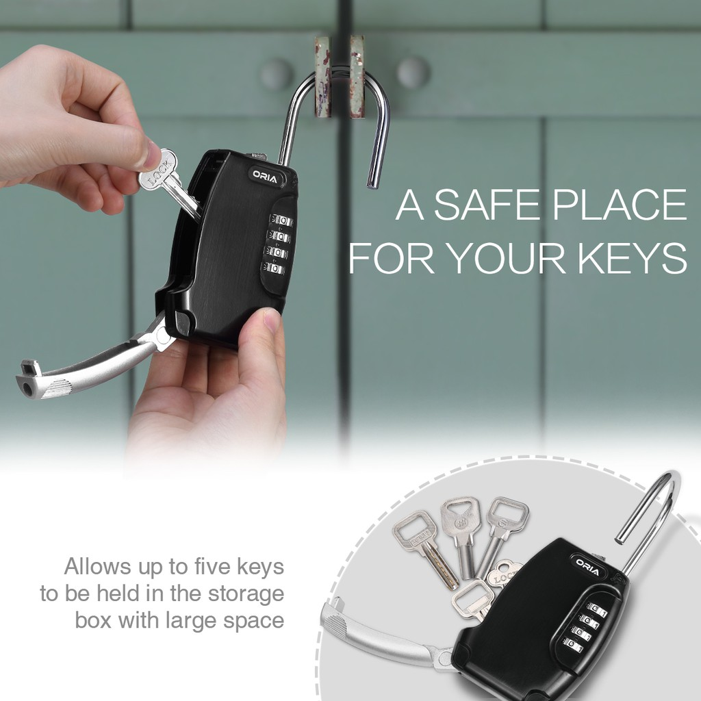 New Version] Portable Secure Key Storage Key Lock Box
