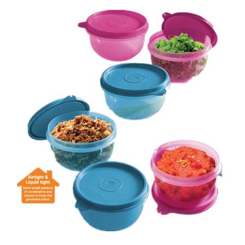 Tupperware Tiny Treats (1) 250ml Pink/Blue
