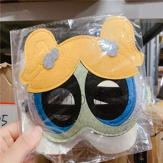PowerPuff Girls Blossom and Bubbles PVC Mask Halloween Costume NEW